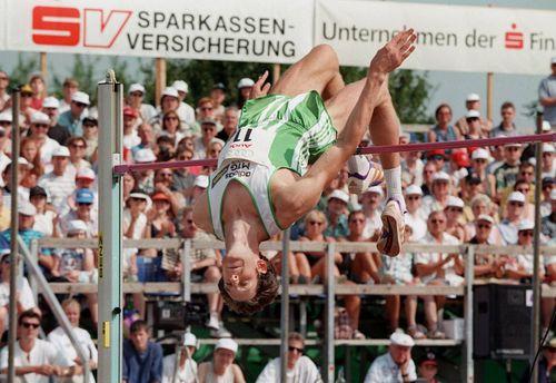 Hochsprung-Meeting 1998 in Eberstadt: Wolfgang Kreißig in Aktion